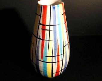 Fratelli Vintage Italian Ceramic Vase from Fratelli Fanciullacci, 1960s; #568; Mid Century Modernist