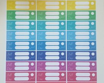 Planner Stickers Sticker Bill due