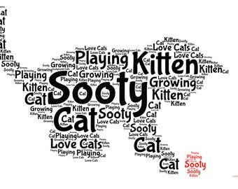 Kitten with Wool Word art picture