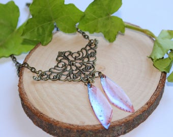 """""""Fairy Wings"""" iridescent cicada wings necklace"""