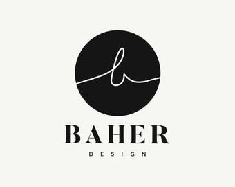 SALE - Modern Logo, Pre Made Logo, Small Business Logo, Gold Foil Logo, Graphic Design, Branding for Small Business