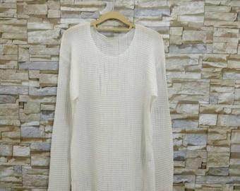 Issey Miyake Shirt Vintage T-Shirt Pleats Please Long Sleeve Rare Designer Fashion Japan Yohji Yamamoto Comme des Garçons Junya Watanabe
