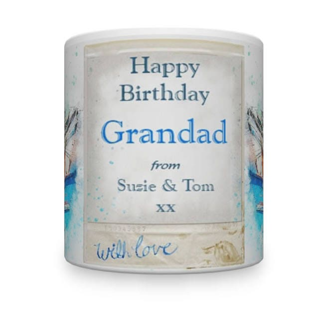 Personalised Grandad Birthday Mug. Mug For Grandad. Grandad Gift. Gift For Grandad.