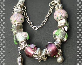 Charm Bracelet Floral Print