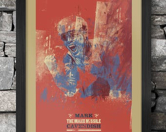 Mark Cavendish Cycling Poster Print - Abstract Syle
