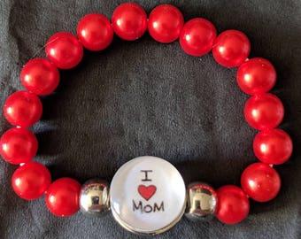 Mom Beaded Bracelet