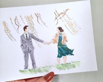 Custom Wedding Illustration Cards