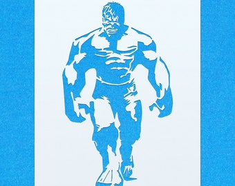 Incredible Hulk Avengers Mylar Airbrush Painting Wall Art Stencil
