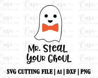 Mr. Steal Your Ghoul SVG Cutting FIle, Ai, Dxf and PNG | Instant Download | Cricut and Silhouette | Ghost | Halloween | Boy | Bow Tie