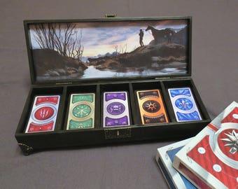Witcher 3: Wild Hunt - Wooden Gwent Box (for 5 decks)