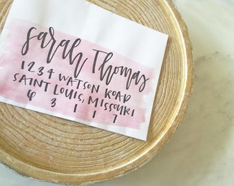Custom Modern Watercolor & Calligraphy Envelopes ~ Handwritten Envelope Addressing ~ Wedding Calligraphy Envelopes