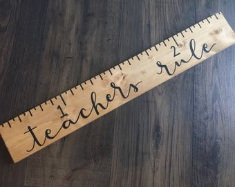 Teacher Signs   Classroom Decor   Teacher Gift   Ruler Sign   Wooden Sign