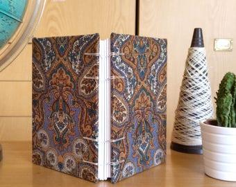 DISCOUNTED A6 paisley print handbound Coptic stitch notebook (11x15 cm) quaderno rilegato a mano