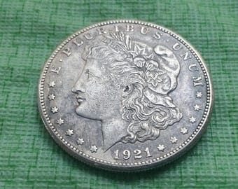 1921S US silver  Morgan dollar.   XF details  #S578
