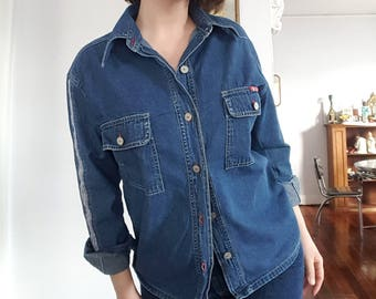 Vintage B.U.M. Equipment Denim Button-Down