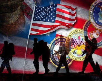 USA Seals Sign 8 x 12 Patriotic Military Emblem