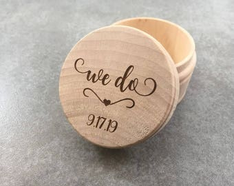 Wedding band box Etsy