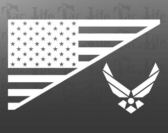 US Flag  / Air Force - Vinyl Decal