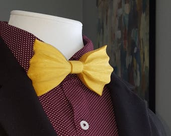Yellowheart Wooden Bow Tie