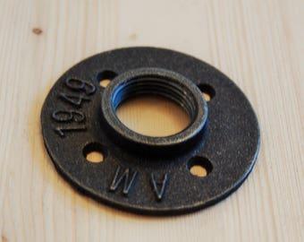 """Floor flange threaded cast 1 """"- (26/34 mm)"""