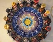 The Circle of Svarog Handcrafted and Handpainted Center Piece (Free Shipping)