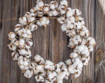 "Cotton Wreath 22"""