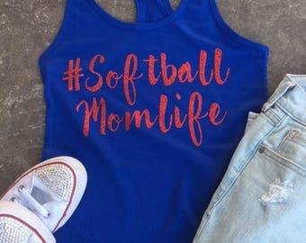 Softball Mom Tank | Softball Mom Life | Sports Mom Tank | Baseball Mom Life | Soccer Mom | Glitter Tank | Sports Mom | Team Mom