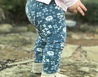 Organic Baby Leggings - Toddler Leggings - Baby Jogger- floral leggings - baby pants - baby girl - baby gift
