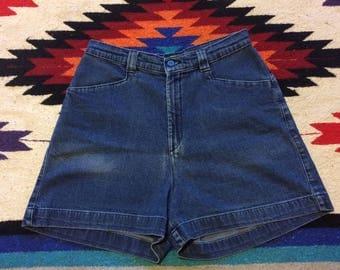 80's Lee Casuals High Waist Blue Jean Mom Shorts