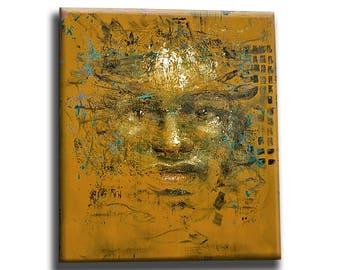 Portrait painting, portrait art decor, portrait oil painting on canvas, original handmade gift, contemporary art