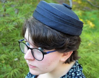 Black Vintage Pillbox Hat
