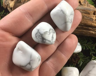 White Howlite Tumbled - White Howlite Stone - Natural White Howlite - Natural Howlite - White Howlite Stone - Healing Crystals and Stones