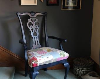 Queen Anne Legged Patchwork Chair