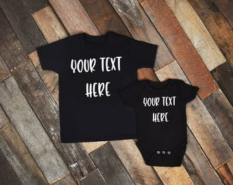 Mommy and Me Shirts,Daddy and Me Shirts,Parent Child Shirts,Matching Shirts,Custom Shirts,Mom Daughter Shirts,Dad Son Shirts