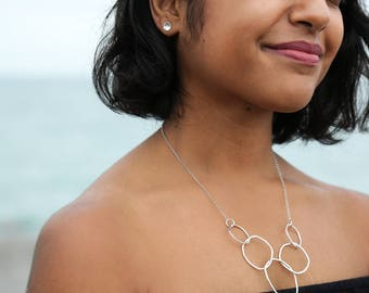 5 Link Sterling Silver Necklace