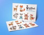 Winter Woodland Animals Sticker Sheet - Decorative Planner Stickers for all planners / bullet journals woodland animals