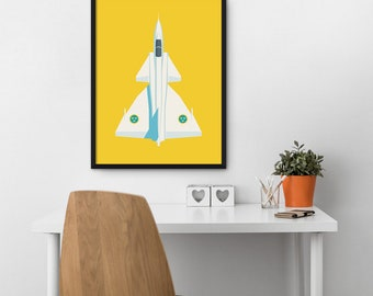 Saab 37 Viggen Swedish Air Force Fighter Jet Aircraft Poster Art Print