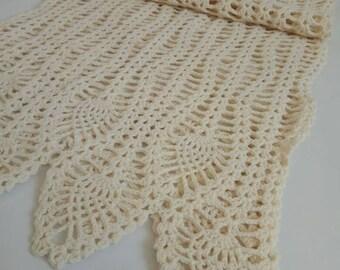 Soft cream shawl Boho style Scarf for modern woman Hand made Boho shawl Boho scarf Woman shawl Cream shawl Cream scarf