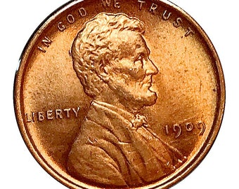 1909 P Lincoln Wheat Cent - Gem BU / MS RD / Unc