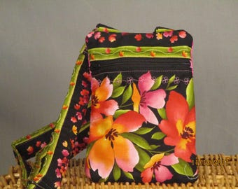 Small K.I.S.S Wallet on a String (Floral)