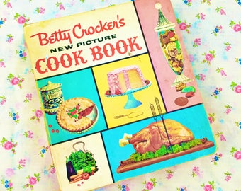 "Vintage Rare 1961 First Edition ""Betty Crocker's New Picture Cook Book"", Vintage 1960s Betty Crocker Cook Book, Betty Crocker Recipe Book"