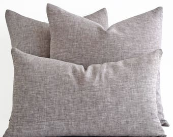 Wholesale!  Natural linen pillow covers - decorative covers - throw pillows - shams - lumbar pillow - Raw Linen - Pure Linen Pillows