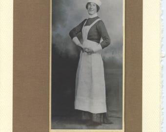 Vintage LGBTQ+ Card - Oh, Nurse! - vintage male nurse photo, old nurse uniform, vintage crossdressing, nursing school graduation, queer card