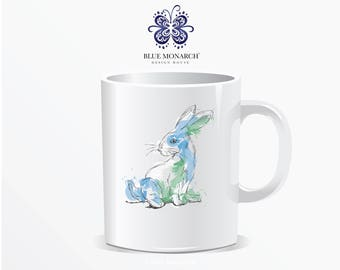 Blue Monarch® Exclusive Coffee Mug, Rabbit Coffee Mug, 11 oz