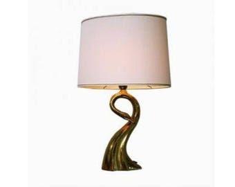 Italian Brass Swan Table Lamp from Regina,1970's - Vintage Table Lamp - Golden Table Lamp - Antique Table Lamp - Brass Lamp - Vintiques