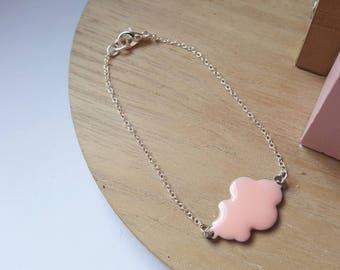 Pink cloud bracelet