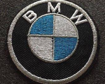 "Vintage BMW Luxury Car Logo 3""Logo Iron On Patch Nos"
