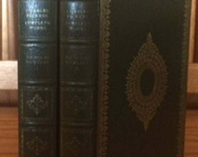 The Life and Adventures of Nicholas Nickleby by Charles Dickens 2 Volume set