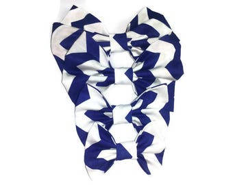 navy white chevron bow tie , for doggy and owner , cat's accessories , navy wedding , pet owner gift ideas