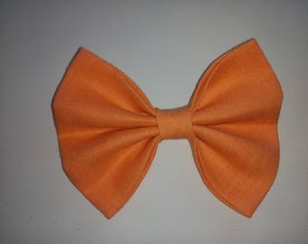 SALMON linen DOGbowtie for doggy summer outfit owner matched